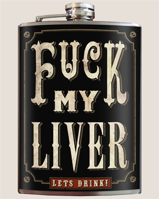 Fuck My Liver Flask Trixie and Milo