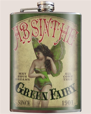 Green Fairy Absinthe Flask by Trixie and Milo