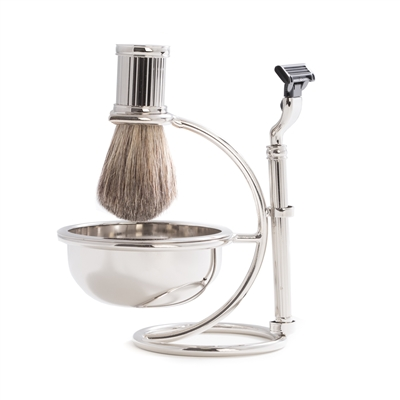 Modern Chrome plated Shave Set