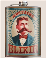 Mustache Elixir Flask by Trixie and Milo