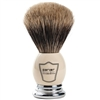 Parker 100% Best Badger Bristle Shaving Brush White and Chrome Handle