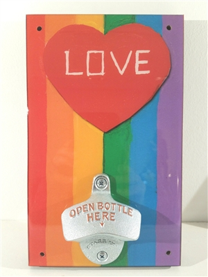 Rainbow Love Novelty Bottle Opener