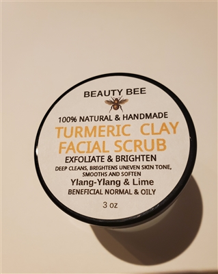 Beauty Bee Turmeric Clay Facial Scrub