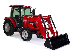 TYM T654 Cab with Power Shuttle 4WD, Power Shuttle, Self Leveling Loader, Dual Remotes, Heat and A/C, NO DEF, NO REGEN