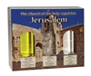 Holy land Gift Pack - Church of the Holy Sepulchre - Jordan River Water , Jerusalem's Stones and Galilee Olive Oil