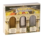 Holy land Gift Pack - Gathsemane - Jordan River Water , Jerusalem's Stones and Galilee Olive Oil