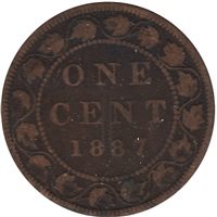 1887 Canada 1-cent Very Good (VG-8)