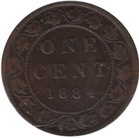 1884 Obv. 2 Canada 1-cent G-VG (G-6)