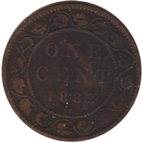1882H Obv. 2 Canada 1-cent G-VG (G-6)