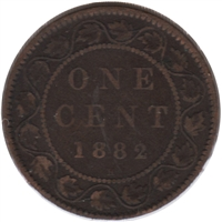 1882H Obv. 1a Canada 1-cent VG-F (VG-10)