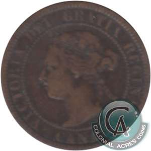 1876H Canada 1-cent Very Good (VG-8)