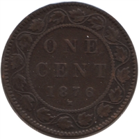 1876H Canada 1-cent VG-F (VG-10)