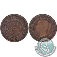 1859 Narrow 9 Canada 1-cent Good (G-4)