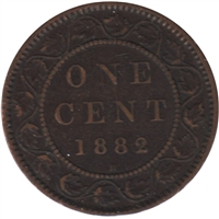 1882H Obv. 1a Canada 1-cent Very Fine (VF-20)
