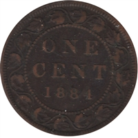 1884 Obv. 2 Canada 1-cent Very Fine (VF-20)