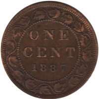 1887 Canada 1-cent Very Fine (VF-20)