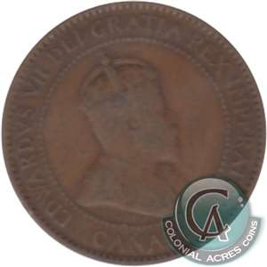 1909 Canada 1-cent Very Good (VG-8)