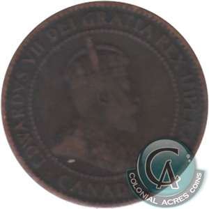 1909 Canada 1-cent VG-F (VG-10)