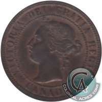 1901 Canada 1-cent Almost Uncirculated (AU-50)