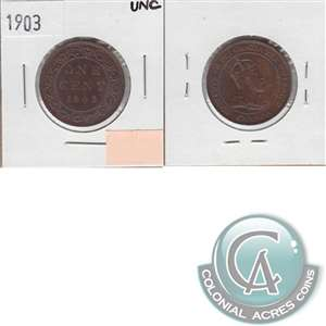 1903 Canada 1-cent Uncirculated (MS-60)