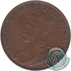 1920 Canada Large 1-cent VF-EF (VF-30)