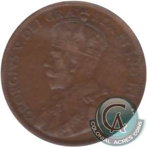 1917 Canada 1-cent Very Fine (VF-20)