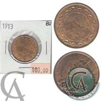 1913 Canada 1-cent Brilliant Uncirculated (MS-63)