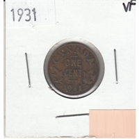 1931 Canada 1-cent Very Fine (VF-20)