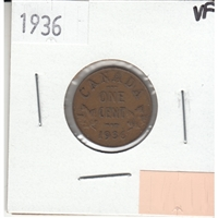 1936 Canada 1-cent Very Fine (VF-20)