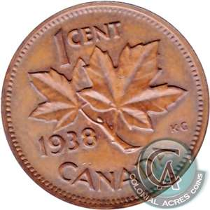 1938 Canada 1-cent Brilliant Uncirculated (MS-63)