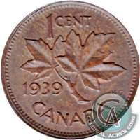 1939 Canada 1-cent Brilliant Uncirculated (MS-63)