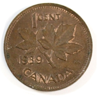 1939 Canada 1-cent Almost Uncirculated (AU-50)