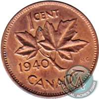 1940 Canada 1-cent Circulated