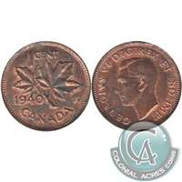 1940 Canada 1-cent Almost Uncirculated (AU-50)