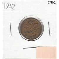 1942 Canada 1-cent Circulated