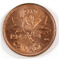 1943 Canada 1-cent Choice Brilliant Uncirculated (MS-64)