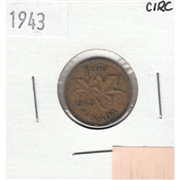 1943 Canada 1-cent Circulated