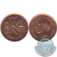 1947 Canada 1-cent Brilliant Uncirculated (MS-63)