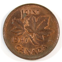 1947 Canada 1-cent Almost Uncirculated (AU-50)
