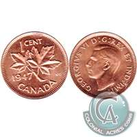 1947 Canada 1-cent Choice Brilliant Uncirculated (MS-64)