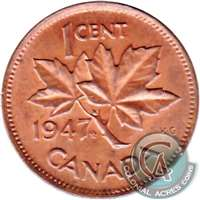 1947 Maple Leaf Canada 1-cent Circulated