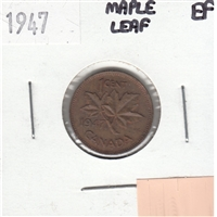 1947 Maple Leaf Canada 1-cent Extra Fine (EF-40)