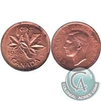 1949 A Between Denticles Canada 1-cent Almost Uncirculated (AU-50)