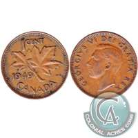 1949 A To Denticle Canada 1-cent VF-EF (VF-30)