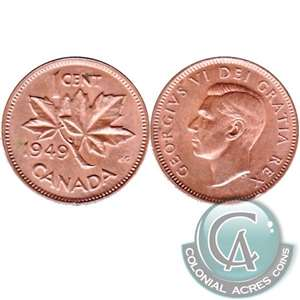 1949 A To Denticle Canada 1-cent F-VF (F-15)