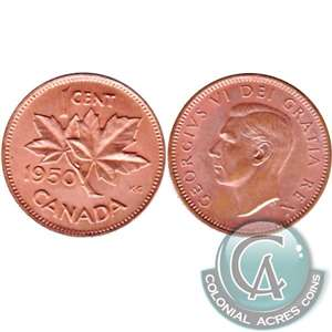 1950 Canada 1-cent Brilliant Uncirculated (MS-63)