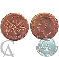 1950 Canada 1-cent Choice Brilliant Uncirculated (MS-64)