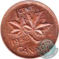 1952 Canada 1-cent Uncirculated (MS-60)