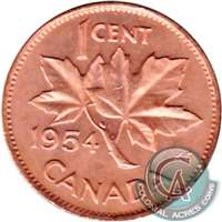 1954 Canada 1-cent Uncirculated (MS-60)