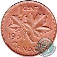 1954 Canada 1-cent Almost Uncirculated (AU-50)